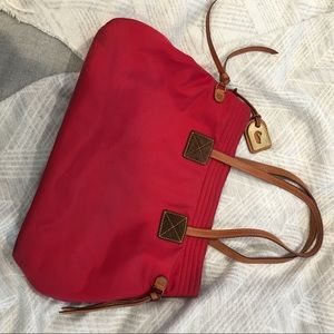 DOONEY AND Bourke red tote